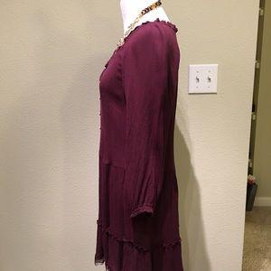 aerie Dresses - Aerie Peasant Nighty dress Burgundy sexy frill